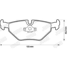 JURID Bremsbelagsatz, Scheibenbremse 34211163395 für BMW, MINI, SAAB, ROVER, MG bestellen