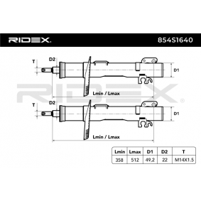 RIDEX Kit amortiguadores (854S1640)