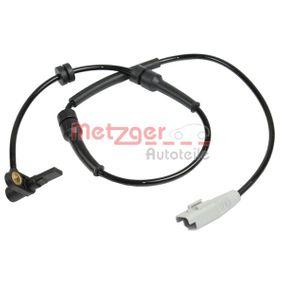 Sensor, Raddrehzahl METZGER Art.No - 0900881 OEM: 1493882080 für FIAT, PEUGEOT, CITROЁN, ALFA ROMEO, LANCIA kaufen