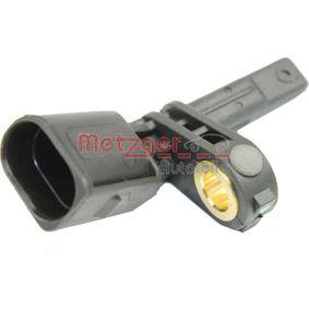 Sensor, Raddrehzahl METZGER Art.No - 0900884 OEM: 7H0927803 für VW, AUDI, SKODA, SEAT, PORSCHE kaufen