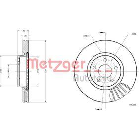 Bremsscheibe METZGER Art.No - 6110789 OEM: 7G911125EA für FORD, NISSAN, FORD USA kaufen