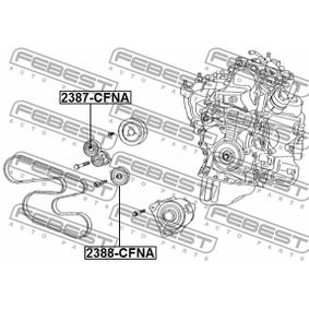 Napinaci kladka, zebrovany klinovy remen 2387-CFNA FEBEST