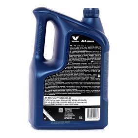VALVOLINE Olio per auto, Art. Nr.: 872281 online