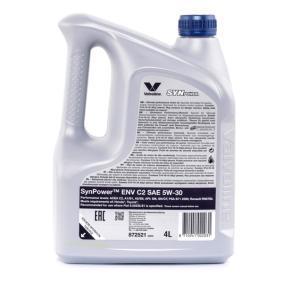 VALVOLINE Olio per auto, Art. Nr.: 872521 online