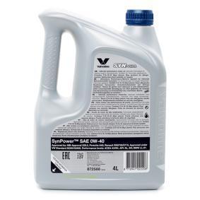 Valvoline Auto oil 0W40 (872588) at low price