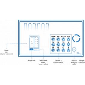 HT-852BT Receptor multimedia para vehículos