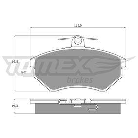 TOMEX brakes VW GOLF Bremsbeläge (TX 10-11)