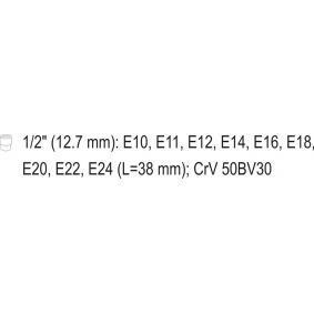 YATO Steckschlüsselsatz (YT-0521) niedriger Preis