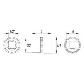 YT-1282 Steckschlüsseleinsatz von YATO Qualitäts Ersatzteile
