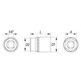 Steckschlüsseleinsatz von hersteller YATO YT-1407 online