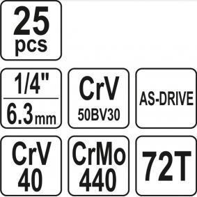 Steckschlüsselsatz von hersteller YATO YT-14461 online