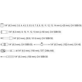 YATO Steckschlüsselsatz (YT-14461) niedriger Preis