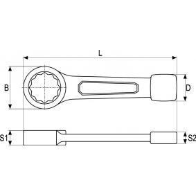 YATO Llave estrella de golpe YT-1608 tienda online