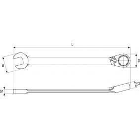 YATO Chave de bocas de luneta com roquete YT-1652 loja online