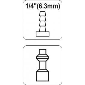 YATO Conector, tubo de ar comprimido YT-2405 loja online