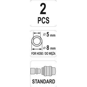 YATO Conector, tubo de ar comprimido YT-24102 loja online