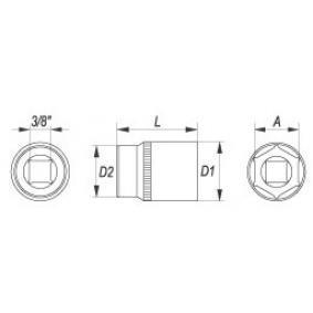 YT-3805 Steckschlüsseleinsatz von YATO Qualitäts Werkzeuge