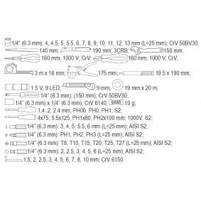 YATO Kit de herramientas (YT-39009) a un precio bajo