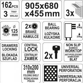 YATO Количка за инструменти (YT-55280) купете онлайн