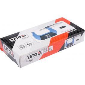 YT-72301 Mikrometr kabłąkowy od YATO narzędzia wysokiej jakości
