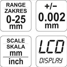 YATO Micrómetro YT-72305 loja online