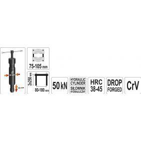 YT-0609 Lagertrekkerset, scheidingsmes van YATO gereedschappen van kwaliteit