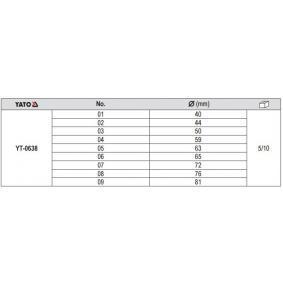 YATO Kit piezas de empuje, extractor / embutidor (YT-0638) a un precio bajo