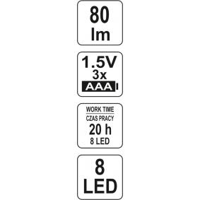 YT-08514 Latarki do pojazdów