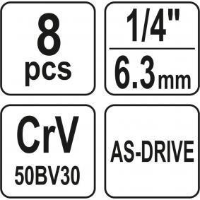 YATO Steckschlüsselsatz, Muttern / Schrauben YT-14431 Online Shop