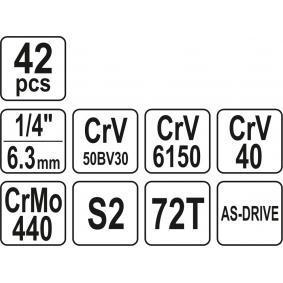 YT-14481 Steckschlüsselsatz von YATO Qualitäts Werkzeuge