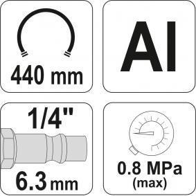 YATO Sűrített levegős abroncsvizsgáló / -töltő YT-2370 akciósan
