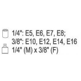 YATO Set chei tubulare (YT-0520) la un preț favorabil