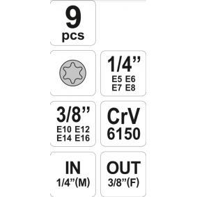 YT-0520 Hylsnyckelsats billigt