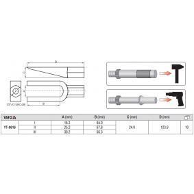 YATO Schuiver, kogelscharnier (YT-0616) aan lage prijs