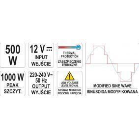 Ondulador de corriente para coches de YATO - a precio económico