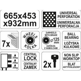 YT-09000 Carro de herramientas de YATO herramientas de calidad