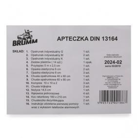 BRUMM Kit de primeiros socorros para carro ACBRAD001