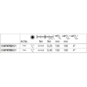WERA Chave de fendas dinamométrica 05074705001 loja online