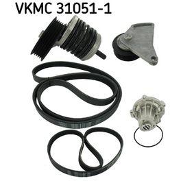 Wasserpumpe + Keilrippenriemensatz SKF Art.No - VKMC 31051-1 OEM: 028145278J für VW, AUDI, SKODA, SEAT kaufen