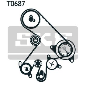 SKF Water pump + timing belt kit VKMC 91303