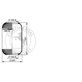 Federbalg, Luftfederung CONTITECH AIR SPRING Art.No - 661 N OEM: 1137888 für BMW, VOLVO kaufen
