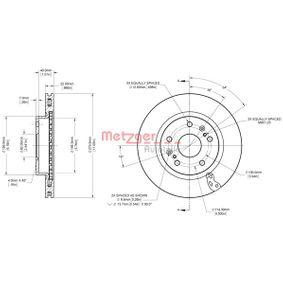 Bremsscheibe METZGER Art.No - 6110848 OEM: 5531161M00 für SUZUKI, SUBARU, BEDFORD kaufen