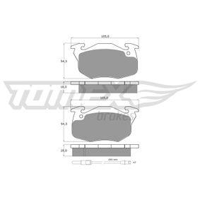 TOMEX brakes Bremsbelagsatz, Scheibenbremse (TX 10-34) niedriger Preis