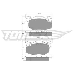 Bremsbelagsatz, Scheibenbremse TOMEX brakes Art.No - TX 10-35 OEM: 424862 für RENAULT, PEUGEOT, CITROЁN, PROTON kaufen