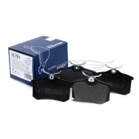 TOMEX brakes VW GOLF Комплект спирачно феродо, дискови спирачки (TX 10-781)