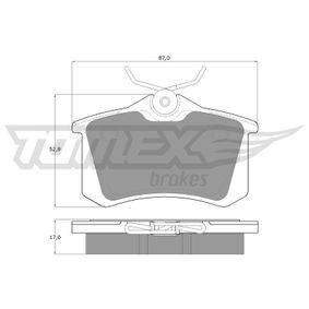 TOMEX brakes Bremsbelagsatz, Scheibenbremse (TX 10-781) niedriger Preis