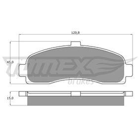 TOMEX brakes Σετ τακάκια, δισκόφρενα TX 11-10