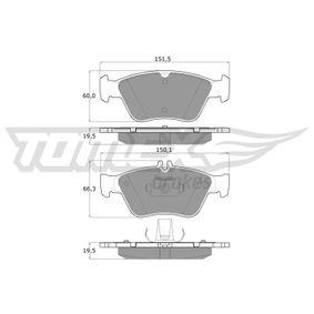 Bremsbelagsatz, Scheibenbremse TOMEX brakes Art.No - TX 11-47 kaufen