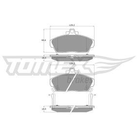 Комплект спирачно феродо, дискови спирачки TOMEX brakes Art.No - TX 11-51 OEM: GBP90315AF за HONDA, SKODA, LAND ROVER, ROVER, MG купете