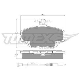 Bremsbelagsatz, Scheibenbremse TOMEX brakes Art.No - TX 11-78 OEM: 7701201774 für RENAULT, PEUGEOT, DACIA, LADA, SANTANA kaufen